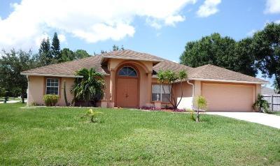 Port Saint Lucie Single Family Home For Sale: 1325 SW Bartell Avenue