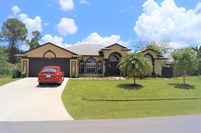 Port Saint Lucie Single Family Home For Sale: 3305 SW Frankford Street