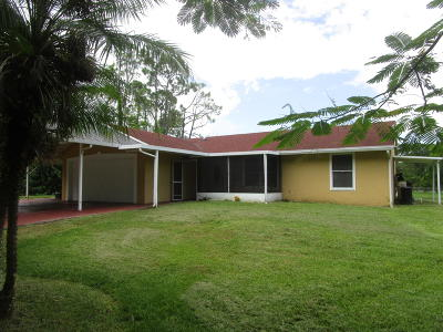 West Palm Beach Single Family Home For Sale: 15591 92nd Court