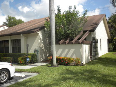 Lake Worth Single Family Home For Sale: 7561 Caesar Court #D