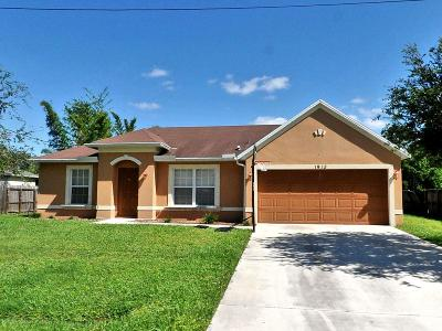 St Lucie County Single Family Home Contingent: 1913 SW Susset Lane