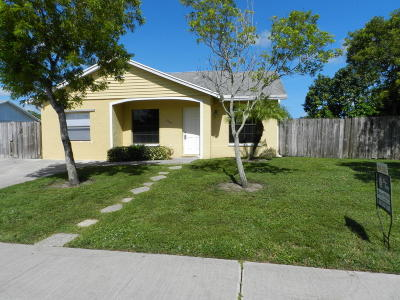 Royal Palm Beach Single Family Home For Sale: 1274 Denlow Lane