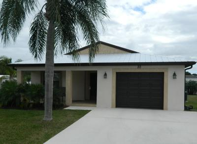 St Lucie County Single Family Home For Sale: 61 El Camino Real