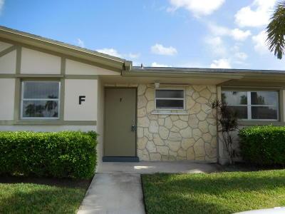 West Palm Beach Condo For Sale: 2570 Barkley Drive E #F