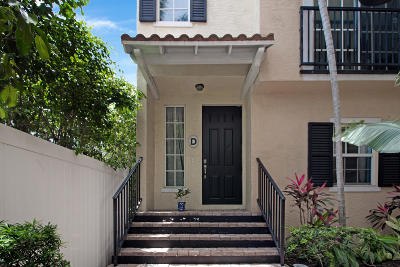 Delray Beach Townhouse For Sale: 150 NE 6th Avenue #D