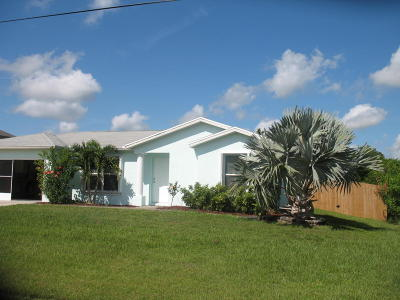 Port Saint Lucie Single Family Home For Sale: 4412 SW Paley Road