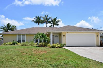 Port Saint Lucie Single Family Home For Sale: 2927 SE Bella Road