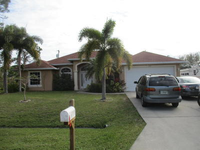 Port Saint Lucie Single Family Home For Sale: 3485 SW Ellis Street