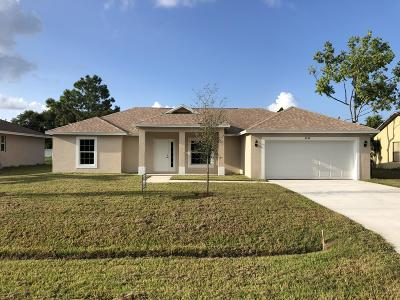 Port Saint Lucie Single Family Home For Sale: 2638 SE Tiffany Avenue