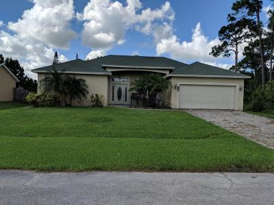 Port Saint Lucie Single Family Home For Sale: 1038 SW Barbarosa Avenue