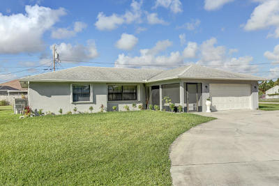 Port Saint Lucie Single Family Home For Sale: 1902 SE South Buttonwood Drive