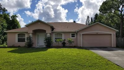 Port Saint Lucie Single Family Home For Sale: 1121 SW Ivanhoe Street