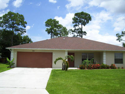 Port Saint Lucie Single Family Home For Sale: 725 SW Alton Circle