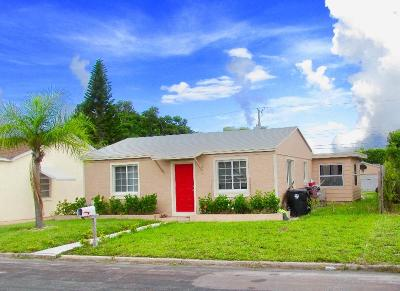 Lake Worth Single Family Home For Sale: 1221 F Street