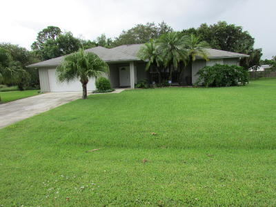 Stuart Single Family Home For Sale: 372 SW Fuge Road
