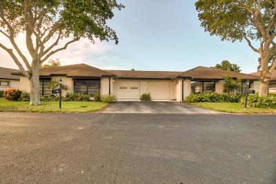 Boynton Beach Single Family Home For Sale: 4762 Greentree Drive #A