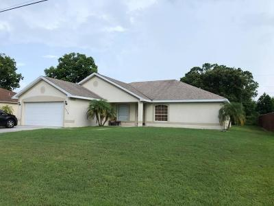 Port Saint Lucie, Saint Lucie West Single Family Home For Sale: 1716 SW Cashmere Boulevard