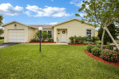 Lake Worth Single Family Home For Sale: 7256 W Pine Park Drive