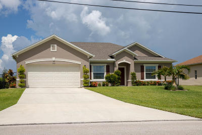 Port Saint Lucie, Saint Lucie West Single Family Home For Sale: 5820 NW Dana Circle