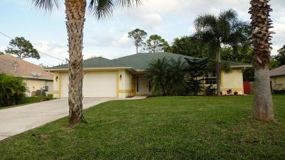 Fort Pierce Single Family Home Contingent: 6010 Bamboo Drive