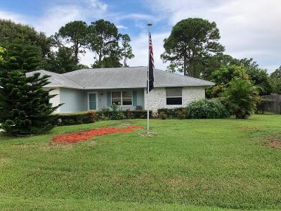 Fort Pierce Single Family Home For Sale: 4907 Paleo Pines Circle