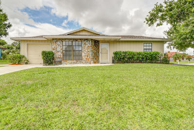 Port Saint Lucie Single Family Home Contingent: 1702 SW McAllister Lane