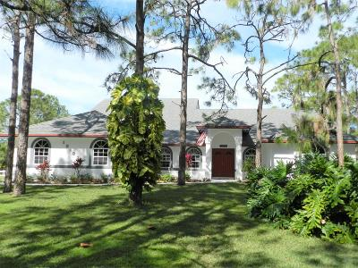 West Palm Beach Single Family Home For Sale: 13083 Tangerine Boulevard