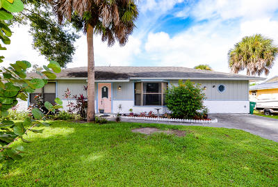 Fort Pierce FL Single Family Home For Sale: $144,900