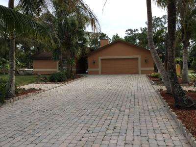 Loxahatchee Single Family Home For Sale: 18346 93rd Road