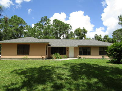 Jupiter Single Family Home For Sale: 12403 189th Court