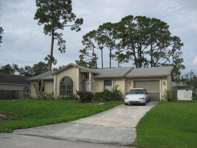 Port Saint Lucie FL Single Family Home For Sale: $149,900