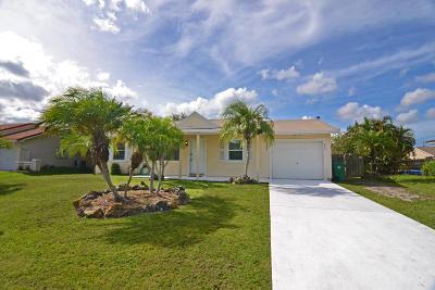 Port Saint Lucie Single Family Home Contingent: 849 SW Amethist Terrace