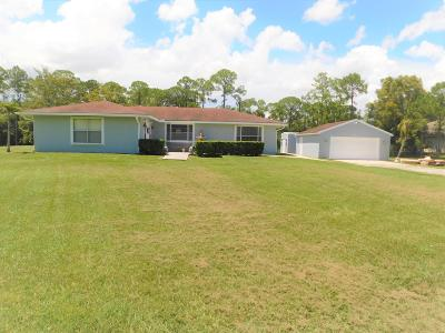 Royal Palm Beach Single Family Home For Sale: 4793 Avocado Boulevard