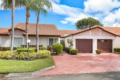 Delray Beach Single Family Home For Sale: 6408 Mill Pointe Circle