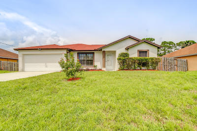 Port Saint Lucie Single Family Home Contingent: 510 NW Sagamore Terrace