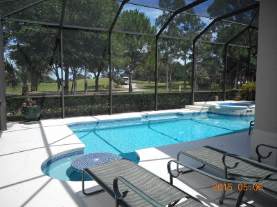 St Lucie County Single Family Home For Sale: 9000 One Putt Place