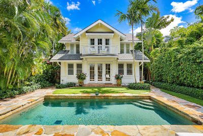 Palm Beach FL Single Family Home For Sale: $5,100,000