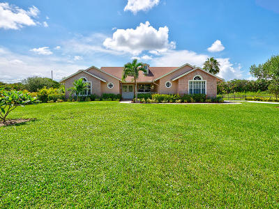 West Palm Beach Single Family Home For Sale: 16511 76th Trail