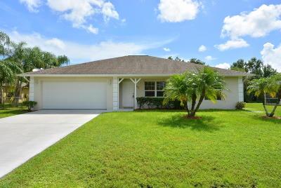 Port Saint Lucie Single Family Home For Sale: 1949 SW Capeador Street