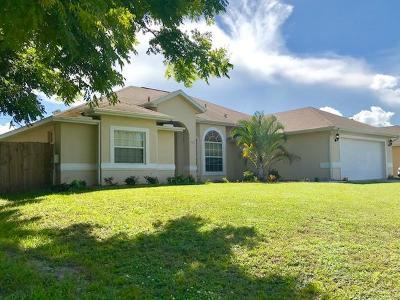 Port Saint Lucie Single Family Home Contingent: 565 SW Homeland Road
