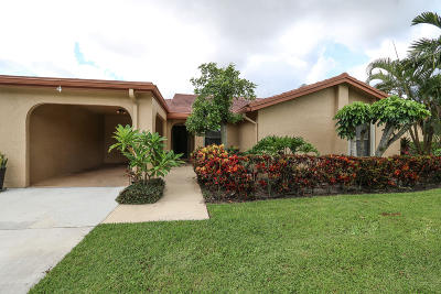 Boynton Beach Single Family Home Contingent: 5835 Forest Grove Drive #4