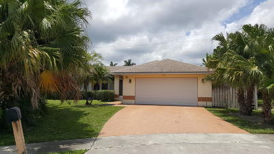 Royal Palm Beach Single Family Home Contingent: 113 Hemingway Court