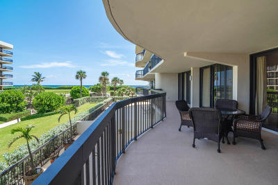 Palm Beach Condo For Sale: 3440 S Ocean Boulevard #204s