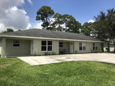 Fort Pierce Multi Family Home Contingent: 4451 Timber Ridge Lane