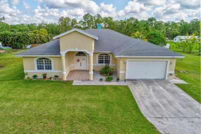 Loxahatchee Single Family Home For Sale: 15425 82nd Street