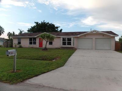 Port Saint Lucie Single Family Home For Sale: 1002 SW Whittier Terrace