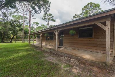 Jupiter Single Family Home For Sale: 16300 Mellen Lane