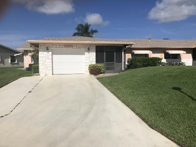 Delray Beach Single Family Home For Sale: 13662 Cord Way