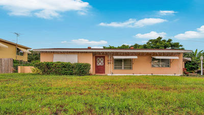 Lake Worth Single Family Home Contingent: 1707 High Ridge Road