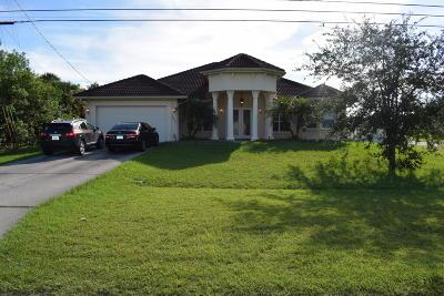 Port Saint Lucie Single Family Home Contingent: 2260 SW Savage Boulevard